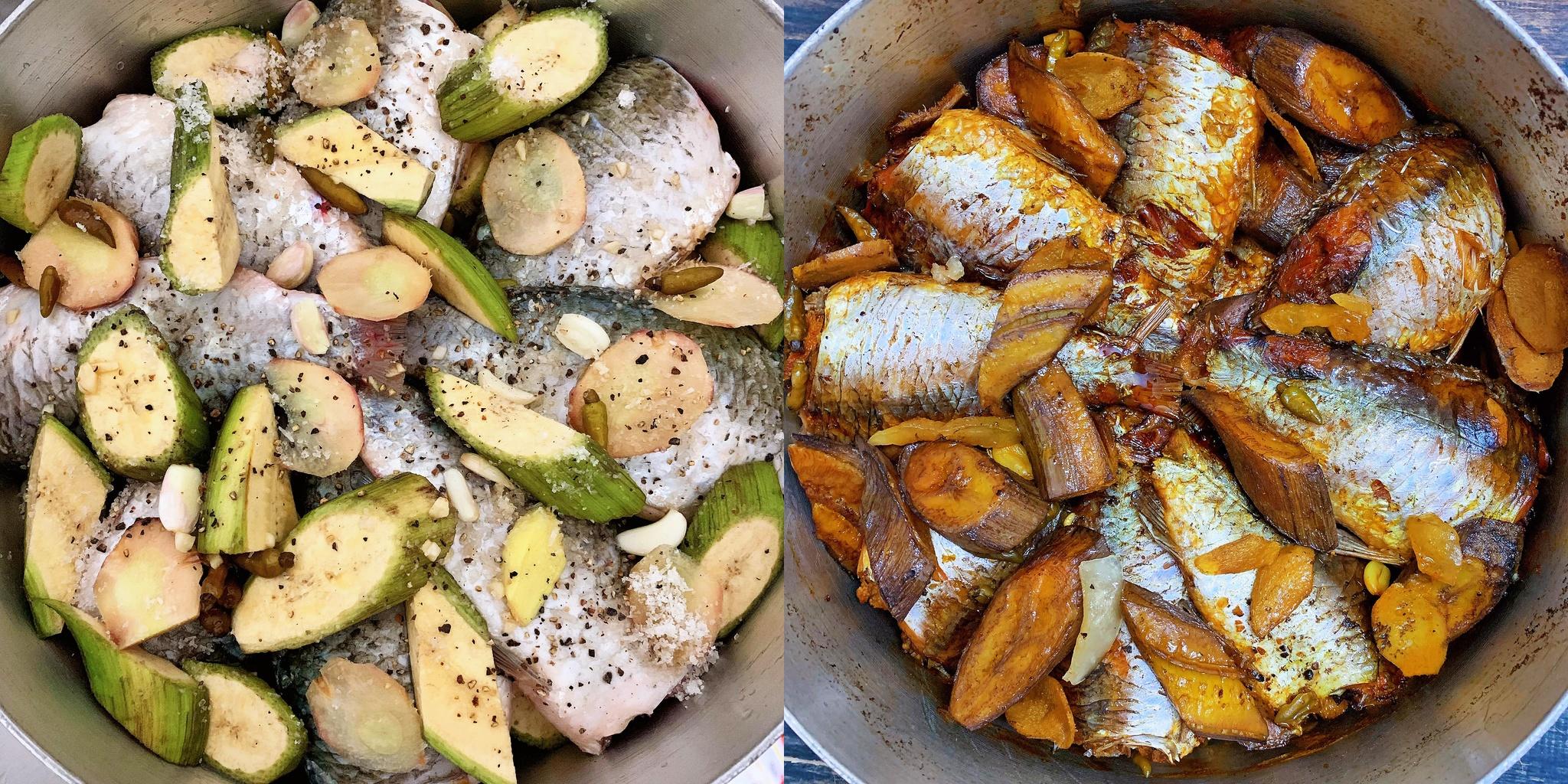 Cách kho cá với chuối xanh riềng thơm phức, đậm đà ngon cơm