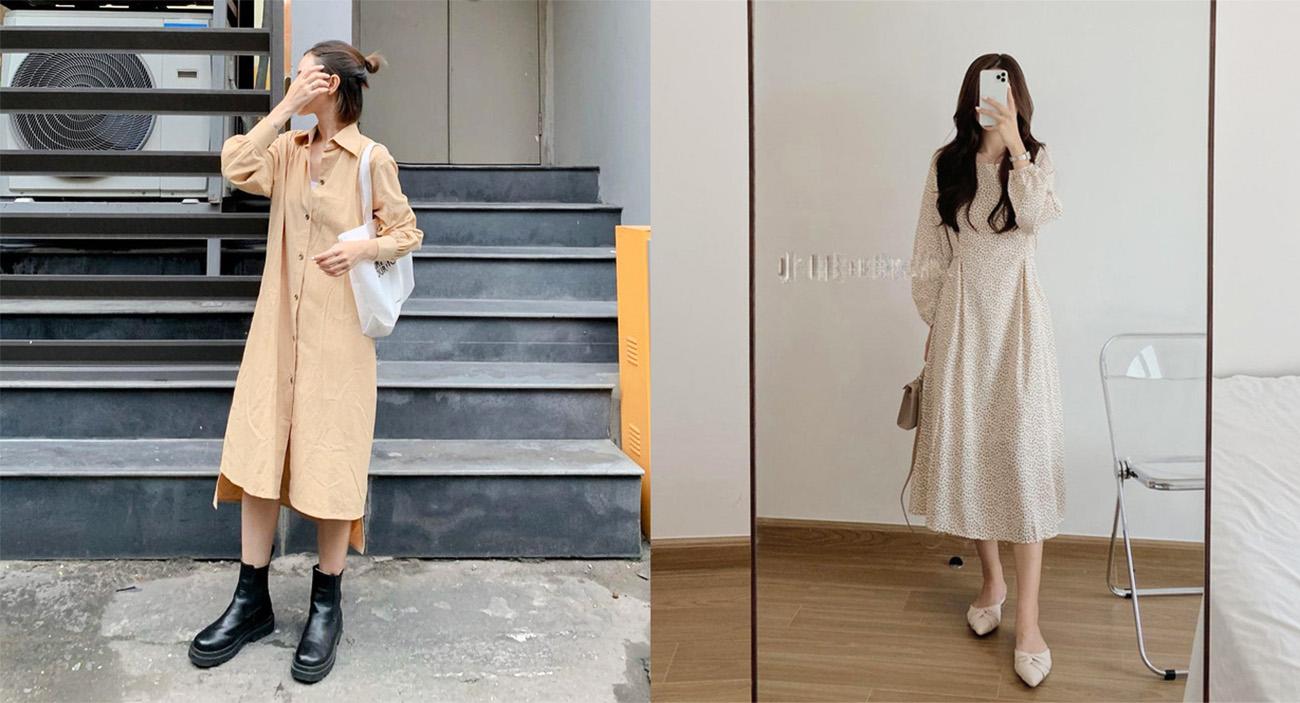 11 mẫu váy dài tay thích hợp cho ngày se lạnh, diện lên là xinh hết nấc