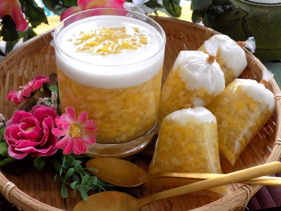 Cách nấu chè bắp bột báng thơm sánh làm món tráng miệng cực dễ