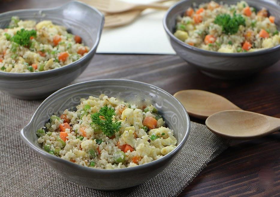 Cách làm Cơm bông cải trắng – Cơm dành cho tín đổ giảm cân