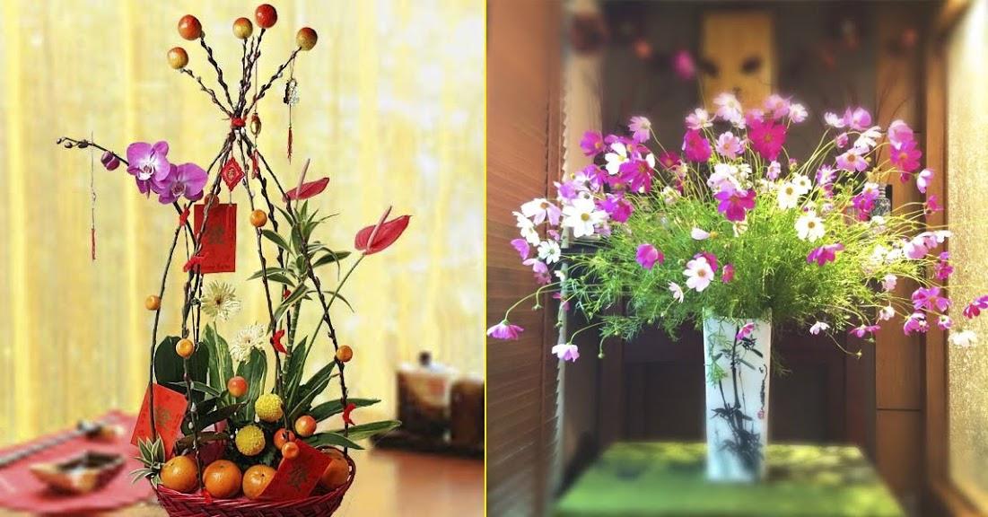 Tổng hợp 14 cách cắm hoa đẹp ngất ngây cho ngày Tết mang may mắn, tiền tài vào nhà