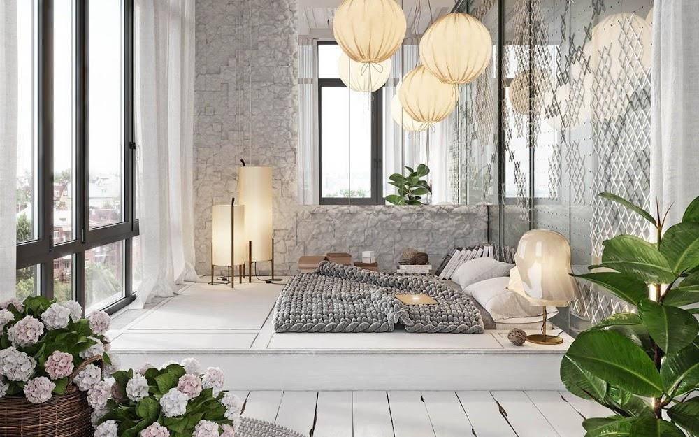 Đừng phí tiền mua giường nữa, hãy sửa phòng ngủ vừa đẹp vừa ấm áp như thế này