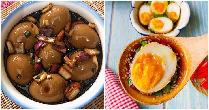 Tự làm trứng ngâm xì dầu vị mặn ngọt, lạ miệng, chồng con chén vèo vèo