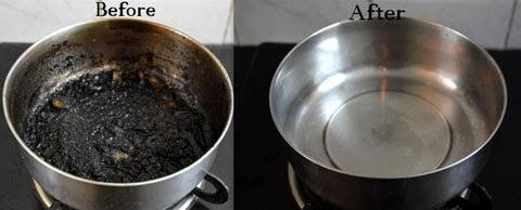 Cách dễ nhất để làm sạch nồi bị cháy đen