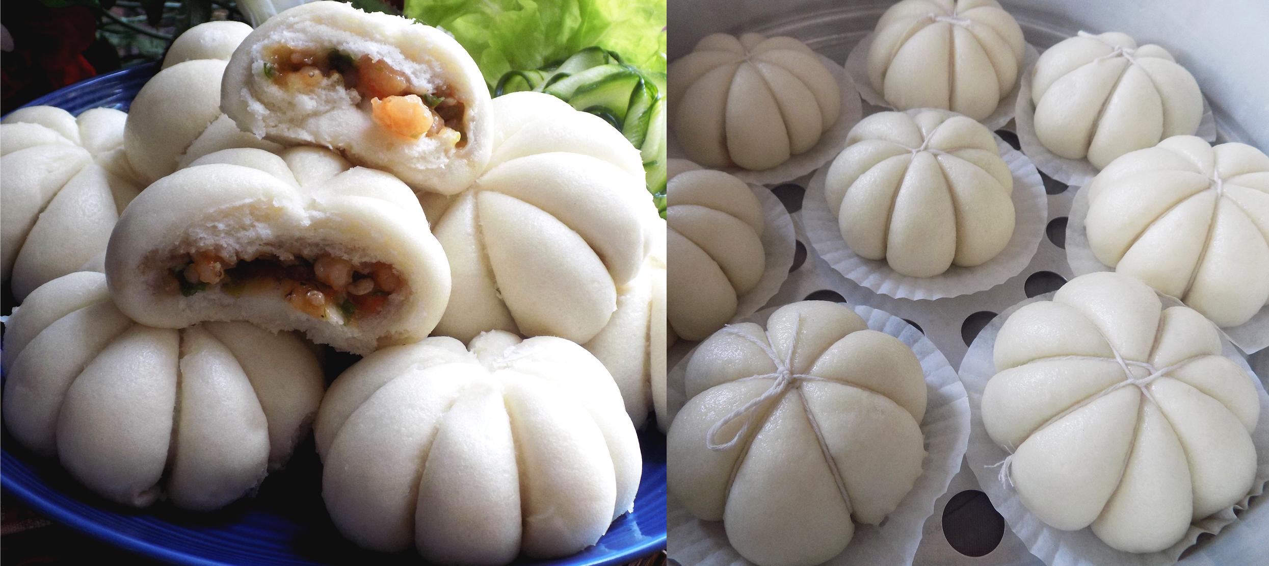 Cách làm bánh bao nhân tôm thịt trắng mềm, nở xốp cực ngon