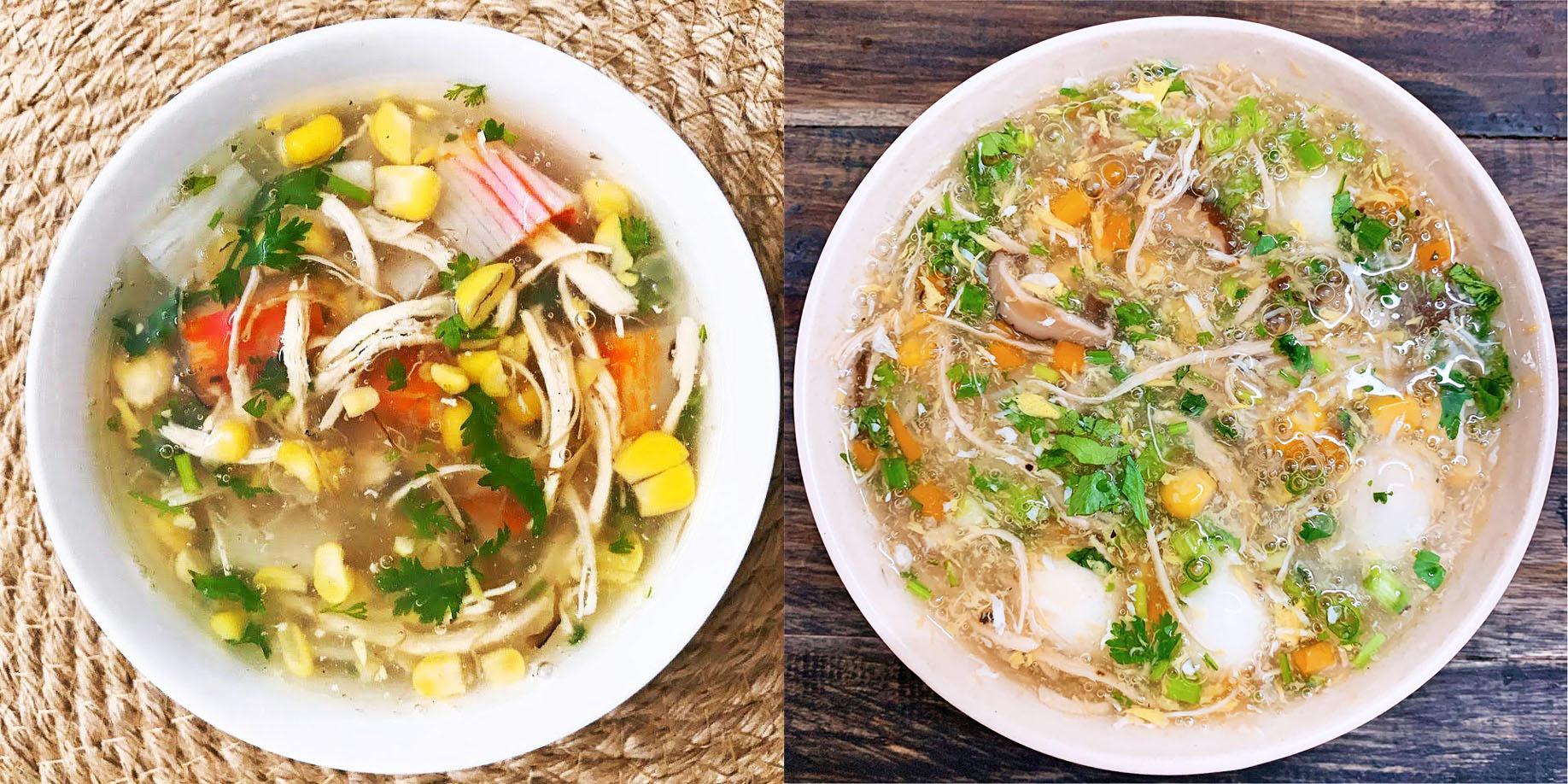 Công thức 2 món súp gà đậm đà, vị ngon ngọt tự nhiên