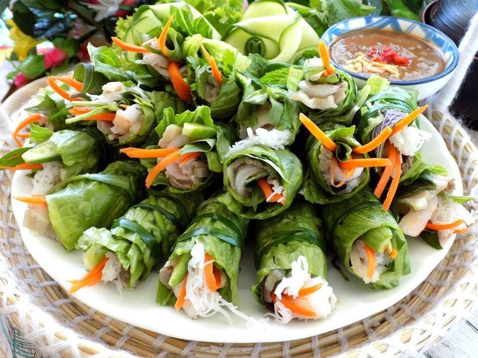 Gỏi cuốn thịt luộc siêu dễ làm lại nhiều rau