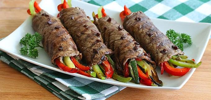 Bò cuộn rau củ nướng ngon khó chối từ