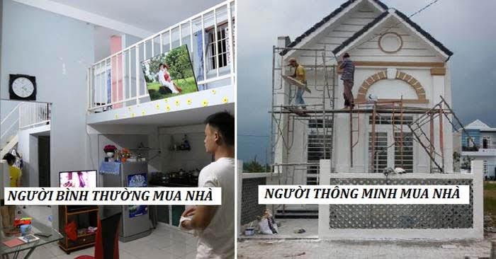 Đây chính là điểm khác nhau khi mua nhà giữa người thông minh và người bình thường