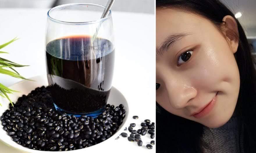 Nước đậu đen rang đánh bay thâm đen, sạm da, lại có tác dụng dưỡng nhan tới già