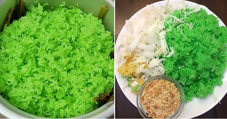 Cách nấu xôi lá dứa mềm dẻo đơn giản tại nhà