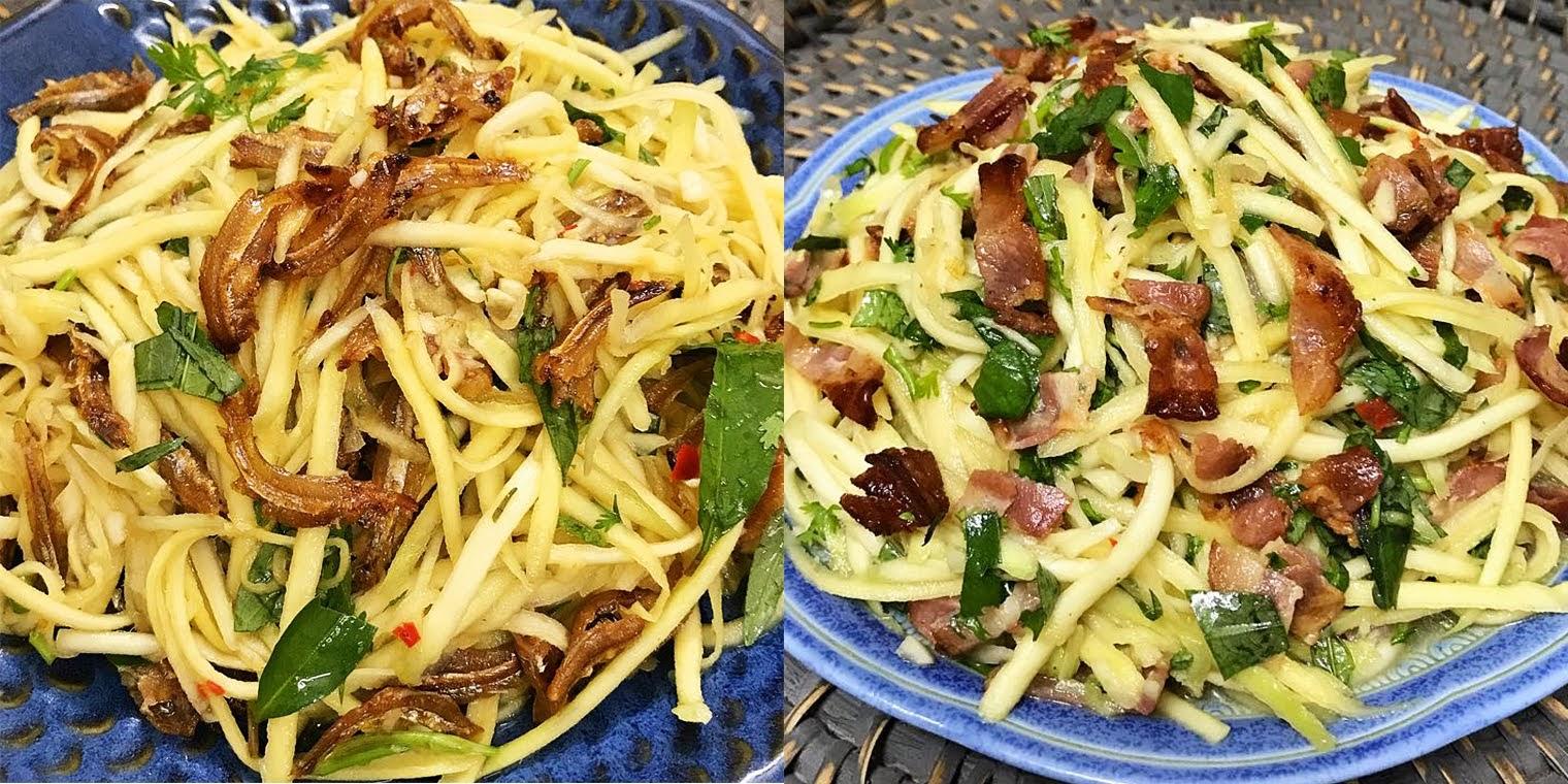 Cách làm 2 món gỏi xoài chua chua cay cay giòn ngon đơn giản cho bữa cơm chiều