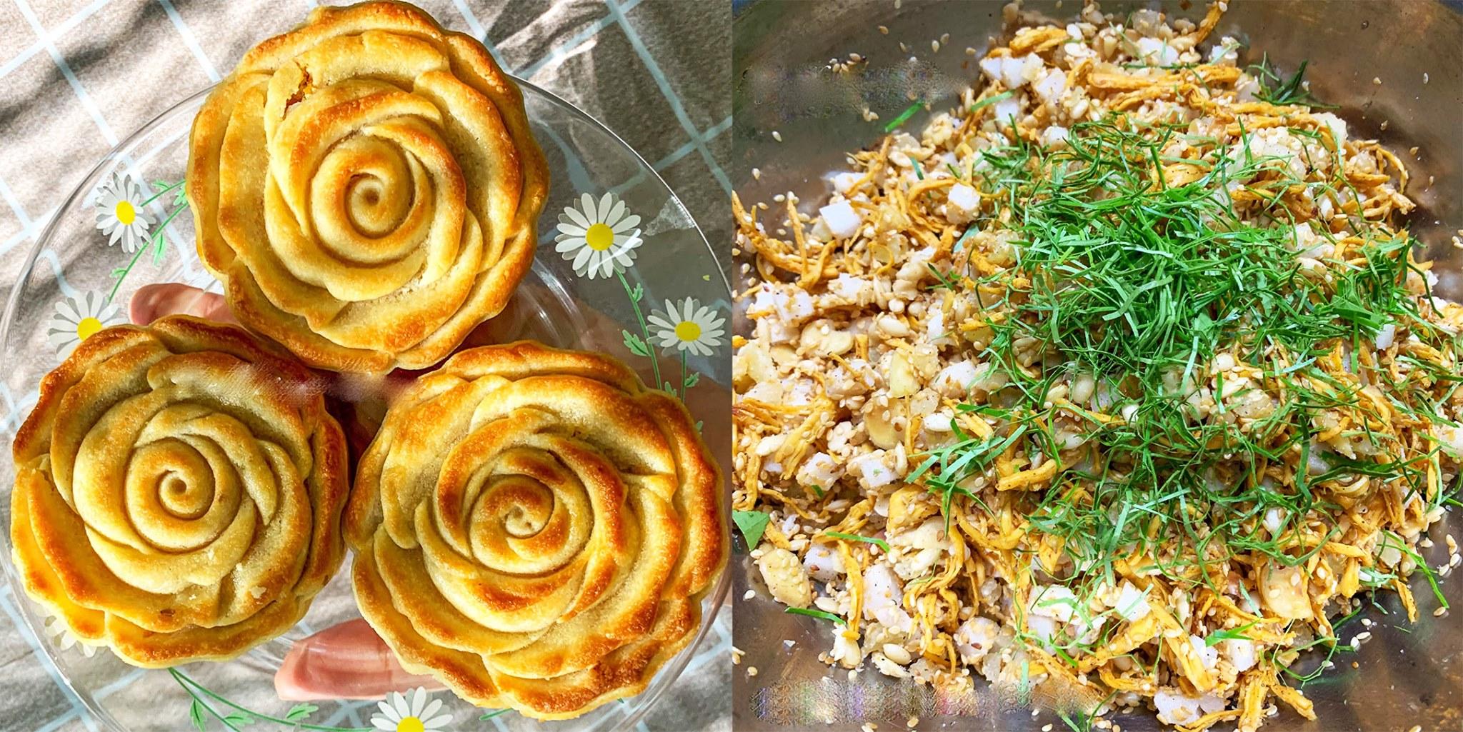 Công thức bánh trung thu keto nhân thập cẩm gà quay trứng muối