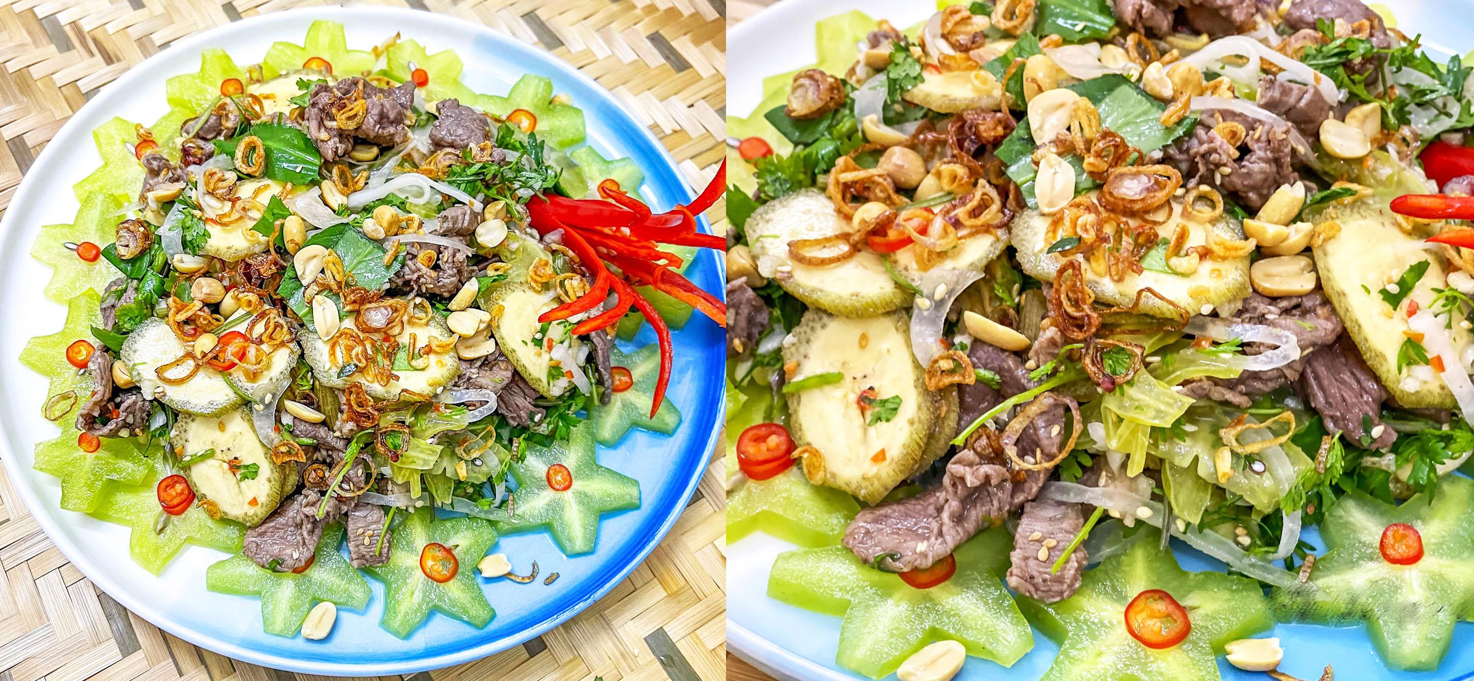 Cách làm món gỏi bò bóp thấu thịt mềm ngọt, không bị dai