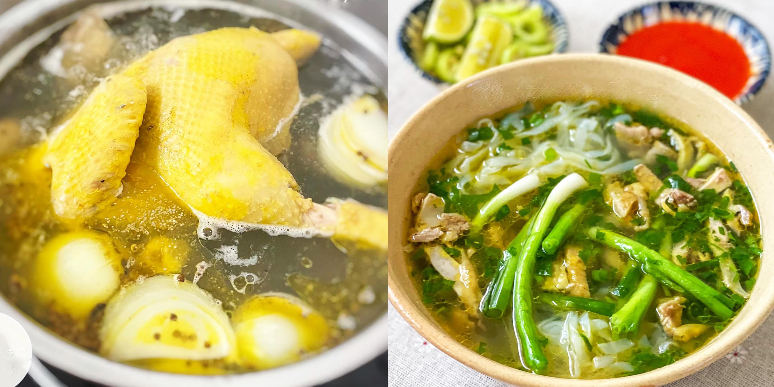 Công thức nấu phở gà ta ngọt thơm, nước dùng trong thanh mà đậm vị