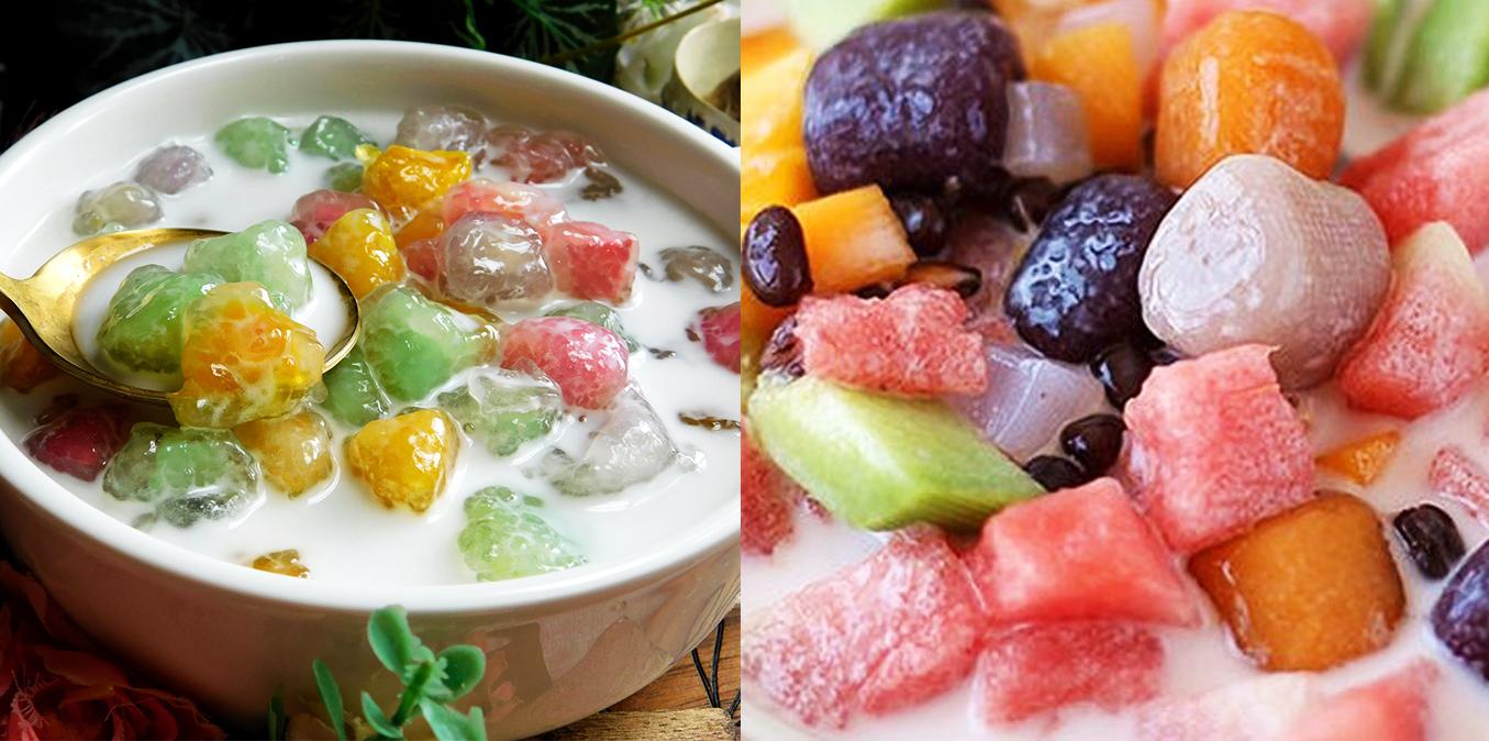 Công thức chè Thái củ năng cốt dừa ngọt mát giải nhiệt