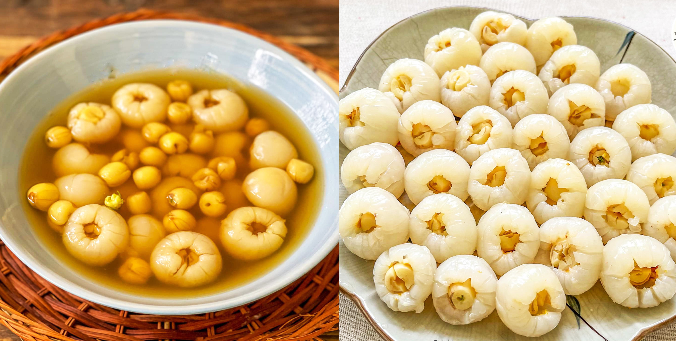 Cách nấu chè vải hạt sen ngọt mát, vừa ngon vừa bổ