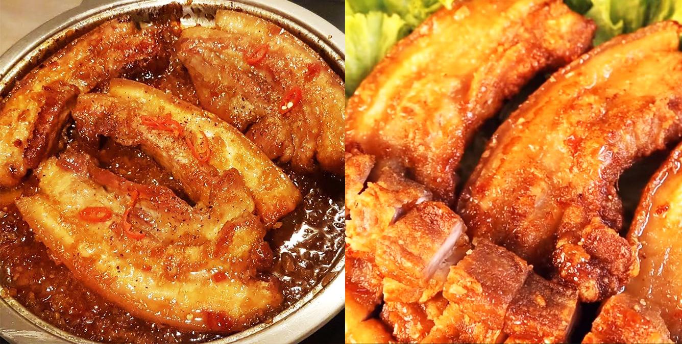 Cách làm thịt ba rọi chiên nước mắm đậm đà, da giòn tan thấm vị