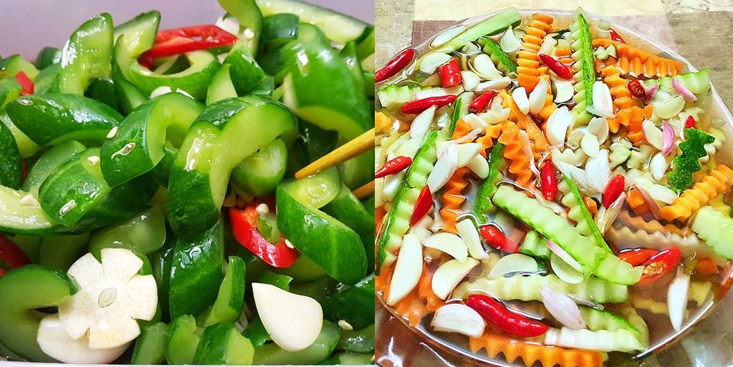 Công thức chế biến các món dưa muối chua ngọt hấp dẫn dễ làm