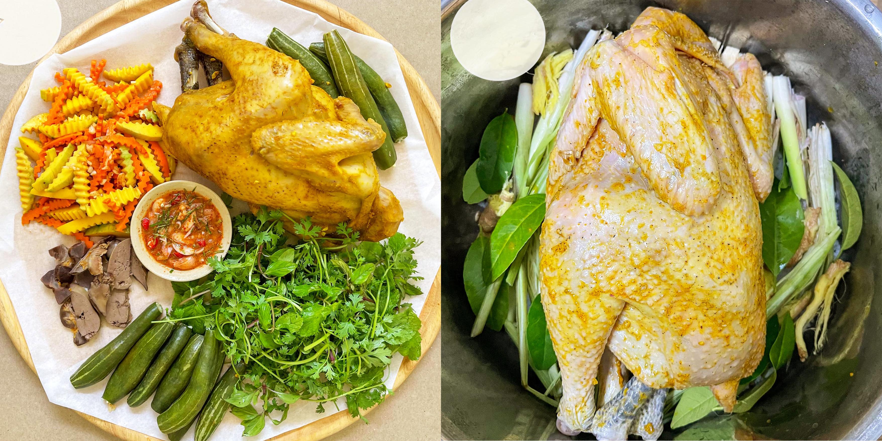 Cách làm gà hấp muối sả thơm lừng, ngọt thịt, da dai giòn